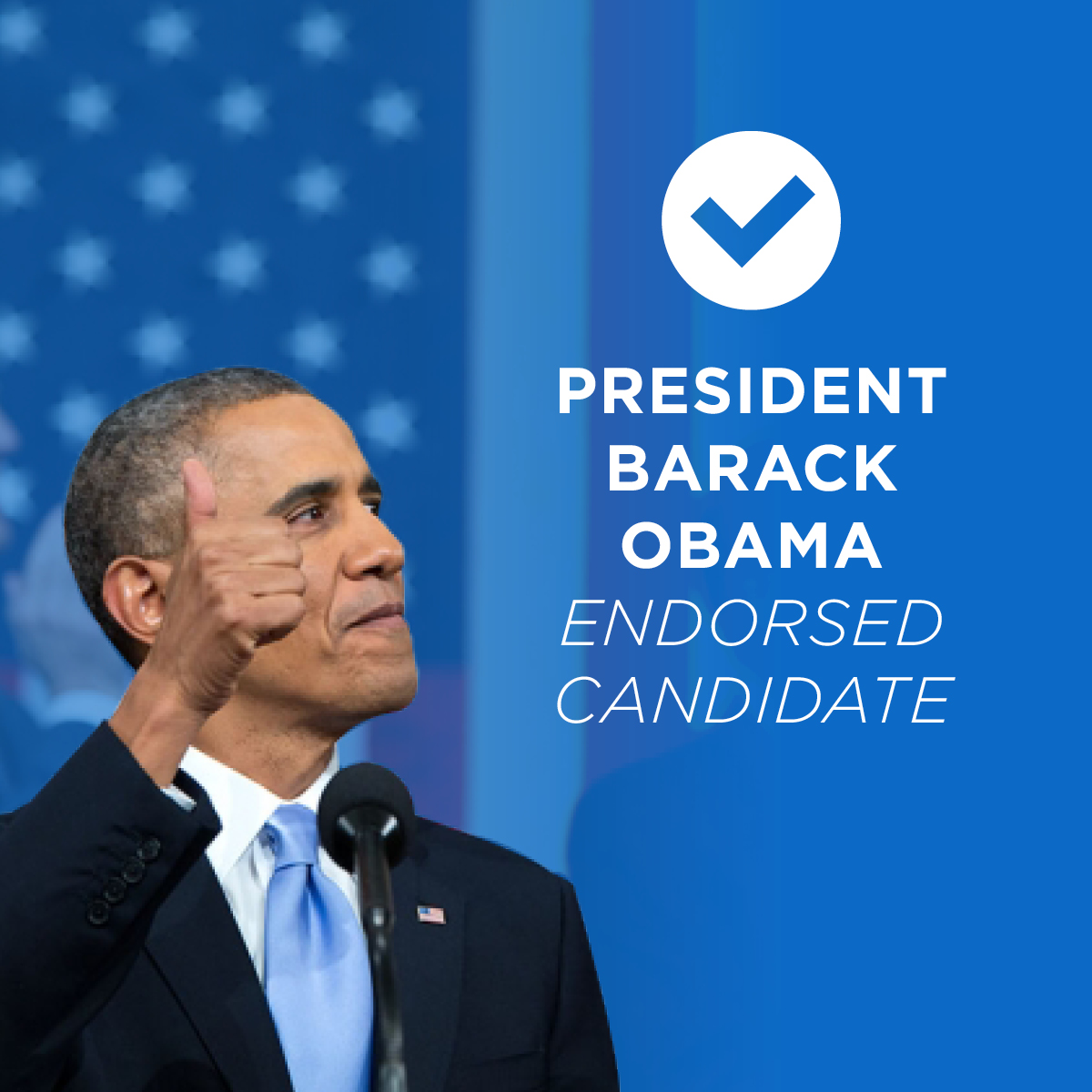 President Barack Obama Endorsed Candidate